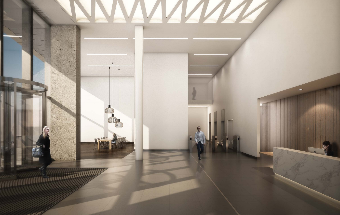 the zig-zag building reception